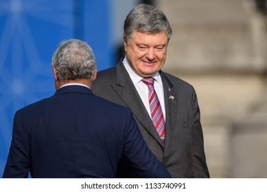 11.07.2018. BRUSSELS, BELGIUM. Petro Poroshenko, Family photo before Working dinner, during NATO SUMMIT 2018