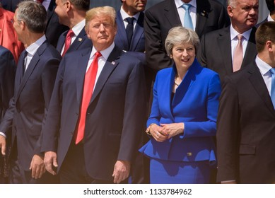 11.07.2018. BRUSSELS, BELGIUM. World leaders Arriving to NATO (North Atlantic Treaty Organization) SUMMIT 2018)