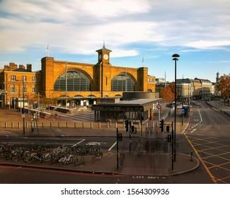 11.09.2019 London, UK.  Kings cross international station & underground station. Blurred moving people
