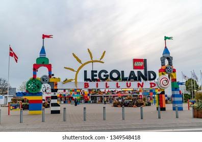 11/1/2018, Billund Denmark, Legoland amusement park, entrance of park