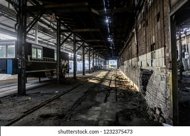 11/14/2018 - Old abandoned train factory  in the city of Zagreb