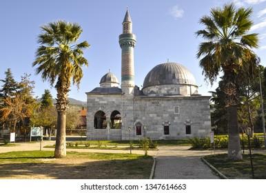 11/20/2016- Iznik, Bursa, Turkey. Green Mosque (Turkish: Yesil Cami)