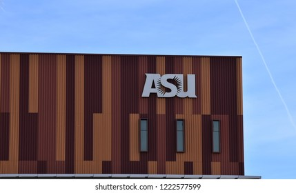11/4/18 Phoenix Arizona Sign for ASU - Arizona State University on downtown Phoenix campus