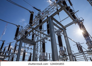 115 kV substation main and transfer bus scheme and supply through the sub circuit breakers to supply to customer.