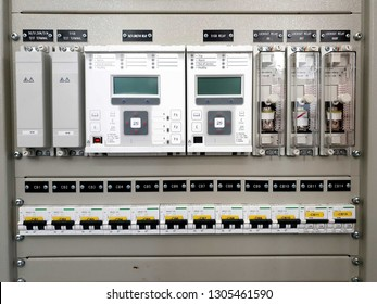 115kV Control and Protection Panel : MCB-Miniature Circuit Breaker and Protection Relay, Lockout relay