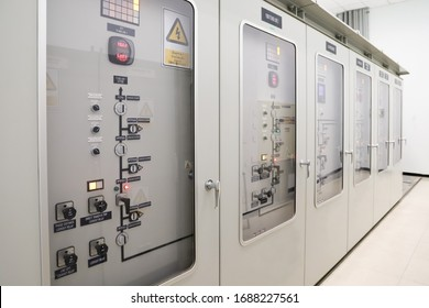 115kV Supervisory Control Panel is control 115kV equipment and show status of circuit breaker, disconnecting switch, earth switch, alarm and trip included multi meter and protection relay