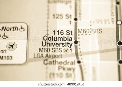 116 St Columbia Univeristy. Broadway/7 Avenue Line. NYC. USA