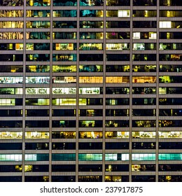 119 Windows on an office building facade in New York