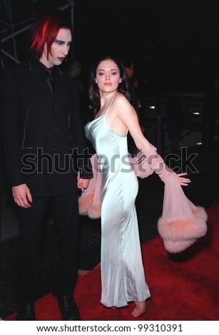 11 FEB 99 Actress ROSE Mc GOWAN Rock Star Stock Photo (Edit Now ...