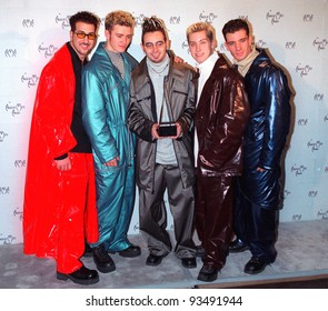 11JAN99:  Pop group N' SYNC at the American Music Awards in Los Angeles.  Paul Smith / Featureflash