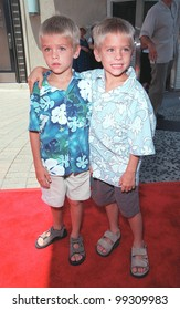 "11JUL99:  Actor twins COLE & DYLAN SPROUSE, stars of new movie ""Big Daddy"", arriving at Sony Pictures Studios in Culver City for the world premiere of ""Muppets From Space"".  Paul Smith / Featureflash"
