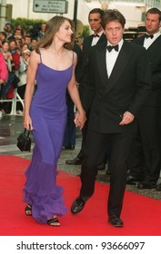 11MAY97:  HUGH GRANT & ELIZABETH HURLEY at the 1997 Cannes Film Festival.