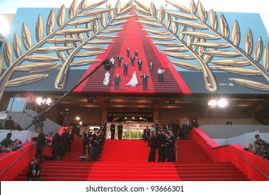 11MAY97:  Palais steps at the 1997 Cannes Film Festival.