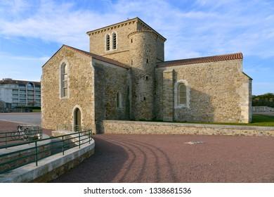 11th century Saint Nicolas priory at Les Sables d'Olonne, commune in the Vendée department in the Pays de la Loire region in western France