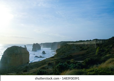 12 Apostles Limestone Rock formation and public viewpoint at Great Ocean Road Australia