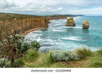 The 12 Apostles, located west of Melbourne, Australia