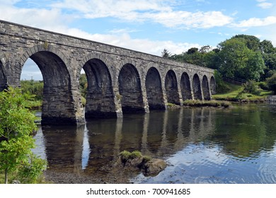A 12 arch stone bridge / viaduct in Ballydehob, West Cork, Ireland.
