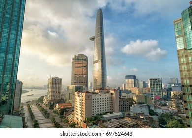 12 August 2017 : The Bitexco Financial Tower is a tallest modern building in Saigon, Ho Chi Minh City - Vietnam