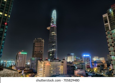 12 August 2017 : The Bitexco Financial Tower is a tallest modern building in Ho Chi Minh city, Vietnam