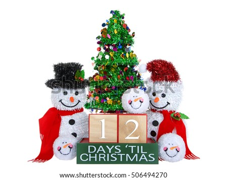 12 days until christmas light beech wood blocks with red trim on a green base with - 12 Days Till Christmas