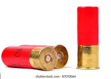 12 gauge red shtogun shells used for hunting