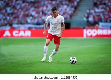 12 June 2018, PGE Narodowy, Warsaw, Poland: Friendly match - Poland vs. Lithuania, Robert Lewandowski