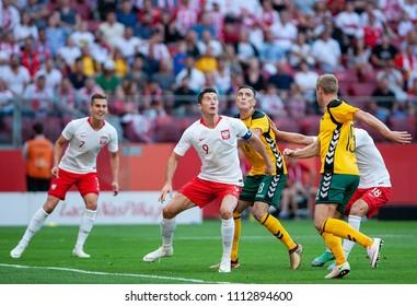 12 June 2018, PGE Narodowy, Warsaw, Poland: Friendly match - Poland vs. Lithuania, Robert Lewandowski and Arkadiusz Milik
