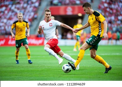 12 June 2018, PGE Narodowy, Warsaw, Poland: Friendly match - Poland vs. Lithuania, Arkadiusz Milik