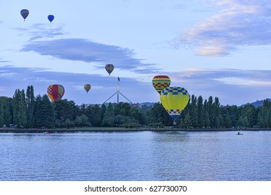 12 March 2017. The Canberra Balloon Spectacular is considered to be one of the best and longest running hot air ballooning. The balloons fly over the lake and parliament house.