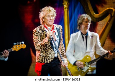 12 May 2019. Ziggo Dome, Amsterdam, The Netherlands. Concert of Rod Stewart
