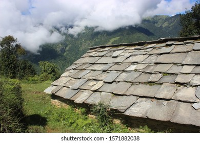 12 November 2019, uttarakhand india. a rural house of himalayan region of india.