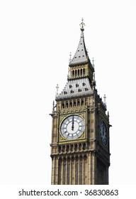12 o'clock. Big Ben, London, UK.