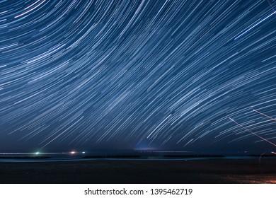 Of 120 minutes,star of the trajectory (Sendai Arahama Coast)