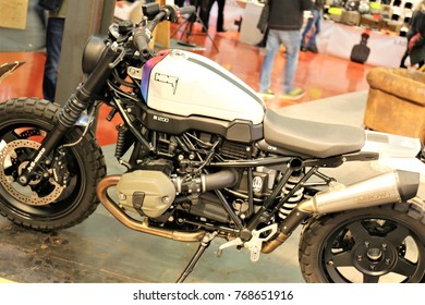 12/02/2017 - Bad Salzuflen/Germany - An Image of a BMW Motorcycle R nine T