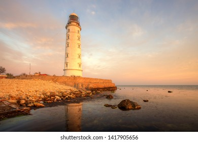 12.05.19  Crimea. Sevastopol. Lighthouse on Cape Khersones