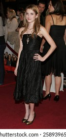 """12/06/2005 - Westwood - Emma Roberts attends the """"The Family Stone"""" Los Angeles Premiere at the Mann Village Theater in Westwood, California, United States."""