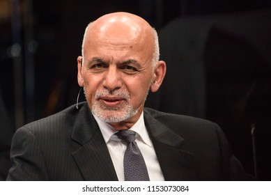 12.07.2018. BRUSSELS, BELGIUM. Ashraf Ghani, President of the Islamic Republic of Afganistan, during NATO Engages discussion at NATO (North Atlantic Treaty Organization) SUMMIT 2018.