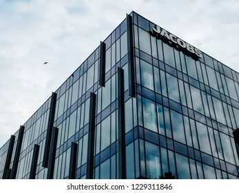 12/11/2018 - Kraków, małopolskie / Poland: Jacobs Office Center on Maria Konopnicka Street. Jacobs is CH2M group. CH2M HILL, also known as CH2M, was a global engineering company
