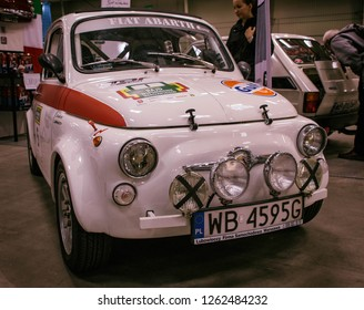 12.12.2018 Warsaw Poland - Auto Moto Show - Italy fiat abarth
