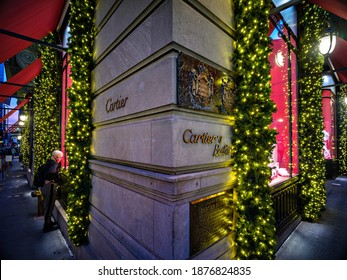 12.16.2020. Boutique Cartier NYC Fifth Ave. Mansion. 653 Fifth Avenue New York NY 10022 United States