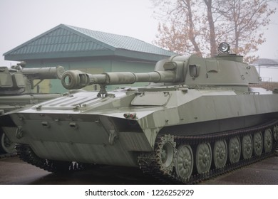 122 mm self propelled howitzer 2s1 GVOZDIKA, old russian gun