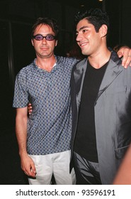 "12AUG98:  Actors ROBERT DOWNEY JR. (left) & DANNY NUCCI at screening of their new movie, ""Friends and Lovers."" They star in the movie with Stephen Baldwin."