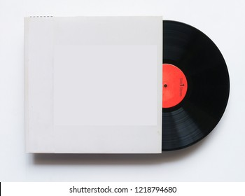 12-inch LP vinyl record with blank cover