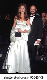 12JAN97: BROOKE SHIELDS & fiance ANDRE AGASSI at the Peoples Choice Awards.   Pix: PAUL SMITH
