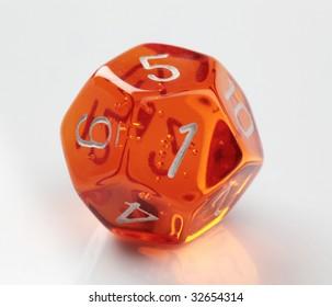 12-sided die