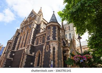 12th century gothic style Southwark Cathedral, London, United Kingdom