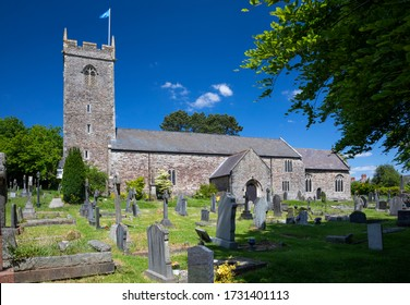 12th Century St' Augustine's Church in the parish of Rumney, Cardiff, Wales. 14th May 2020