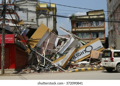 12th May 2015, Building collapsed from the 25th April 2015 Nepal Earthquake