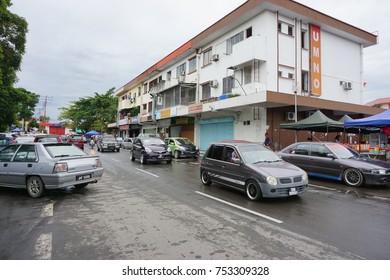12th NOV 2017 - TUARAN, SABAH. MALAYSIA : Street view of Tuaran town, Sabah. Malaysia.