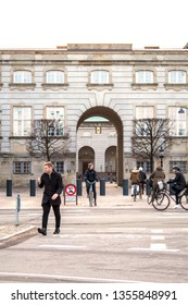 13 February 2019.Christiansborg Palace in central Copenhagen, is the seat of the Danish Parliament, the Danish Prime Minister's Office and the Danish Supreme Court.